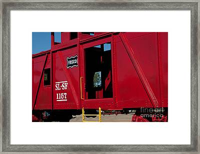 Framed Print featuring the photograph Brilliant Vintage Rail Car by Lawrence Burry