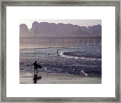 Bringing It Into Shore Framed Print by Ron Regalado