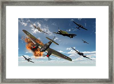British Hawker Hurricane Aircraft Framed Print by Mark Stevenson