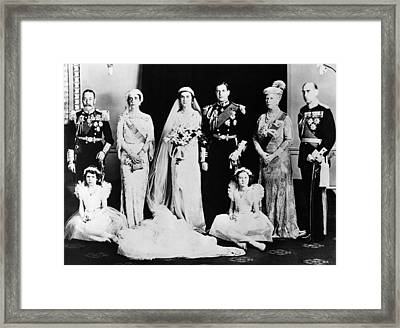 British Royal Family. Seated, From Left Framed Print