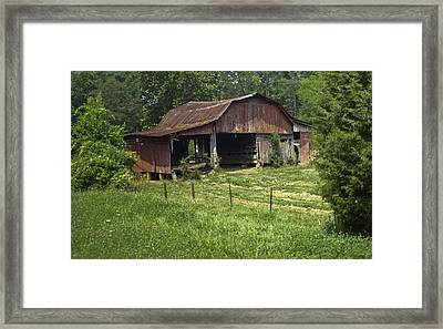 Broad Roofed Barn Framed Print by Douglas Barnett