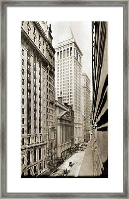 Broad Street Looking North Framed Print
