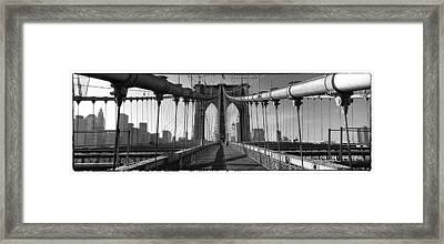 Brooklyn Bridge Framed Print by Peter Aitchison