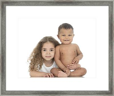 Brother And Sister Framed Print by Ruth Jenkinson