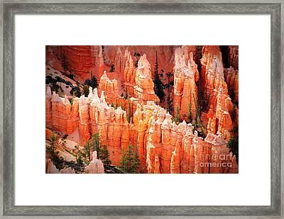 Bryce Canyon Hoodoos Framed Print by Susanne Van Hulst