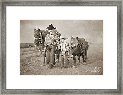 Buckaroo Friends Framed Print