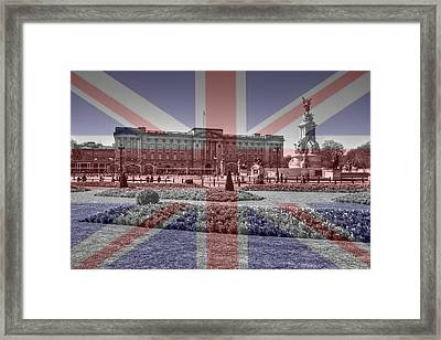 Buckingham Palace London Framed Print by David French