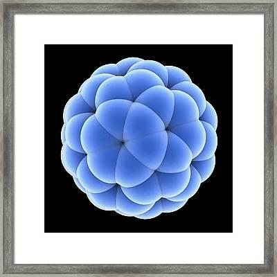 Buckyball Molecule C60, Artwork Framed Print by Laguna Design