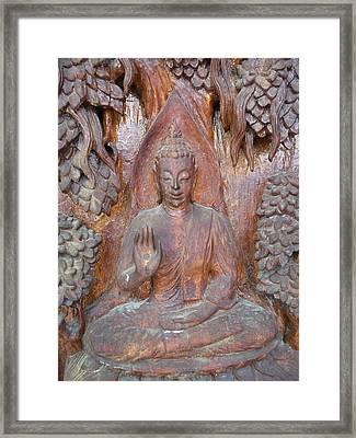 Buddha Image  Framed Print by Panyanon Hankhampa