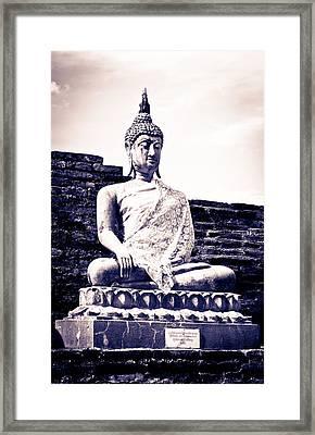 Buddha Statue Framed Print by Thosaporn Wintachai