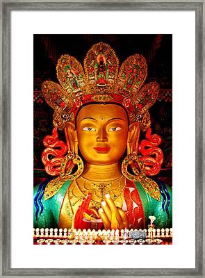 Budha  Framed Print by Saira Ks