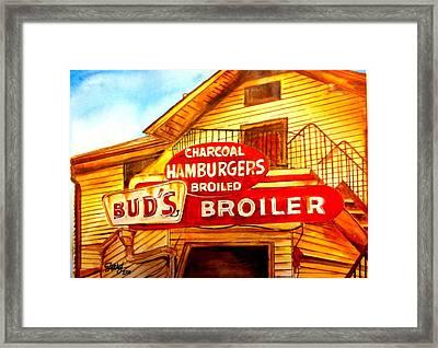 Bud's Broiler Framed Print by Terry J Marks Sr