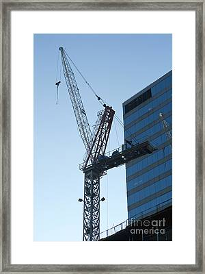 Building Crane Framed Print by Blink Images