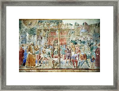 Building The Tower Of Babel, 14th Century Framed Print by Sheila Terry