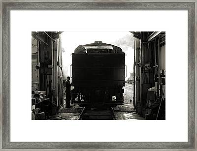Framed Print featuring the photograph Building Up Steam by Bob Wall