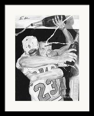 Pippen Drawings Framed Prints