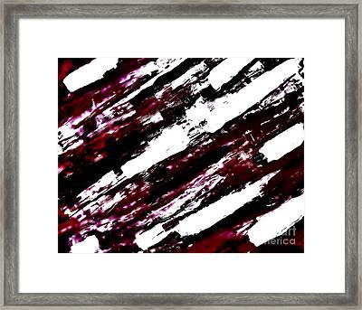 Burgundy Abstract Framed Print by Marsha Heiken