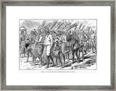 Burma: Street Sweepers Framed Print by Granger