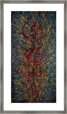 Burning Bush Framed Print by Jonathan E Raddatz