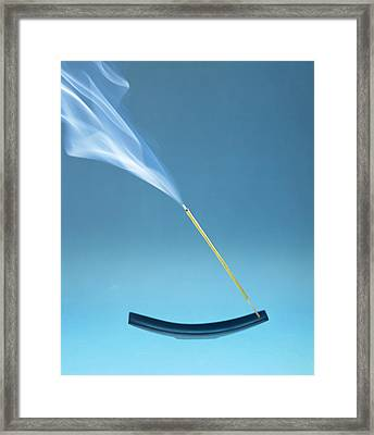 Burning Incense Framed Print by Lawrence Lawry