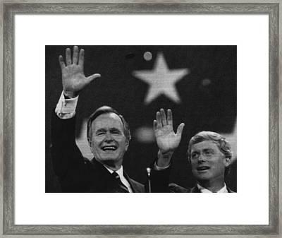 Bush Sr. Presidency. Vice President Framed Print by Everett