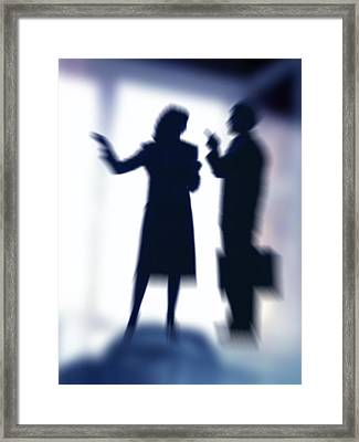 Business People Talking Framed Print by Pasieka