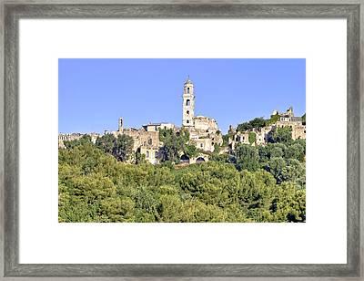 Bussana Vecchia - Liguria - Italy Framed Print by Joana Kruse