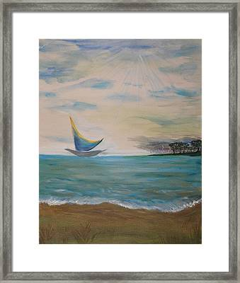 Butterfly Sails Framed Print by Tifanee  Petaja