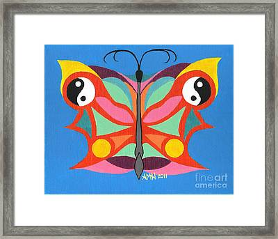 Butterfly Twin2 Framed Print by Angela Q