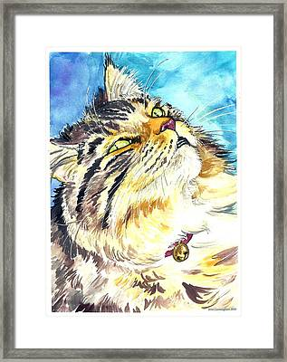 Framed Print featuring the painting Butters by Jenn Cunningham