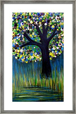 Framed Print featuring the painting Button Tree 0005 by Monica Furlow