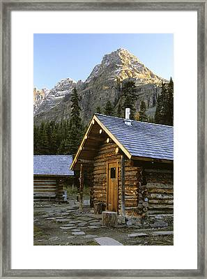 Cabin In Yoho National Park, Lake Framed Print by Ron Watts