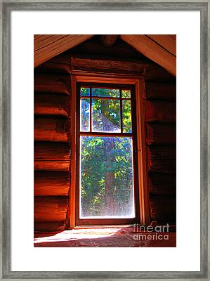 Cabin Window Framed Print by Bill Thomson