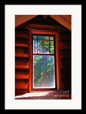 Log Cabin Interiors Mixed Media Framed Prints