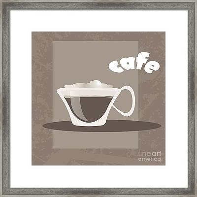 Cafe Framed Print by HD Connelly