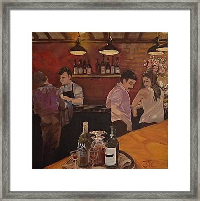 Cafe Framed Print by Julie Todd-Cundiff