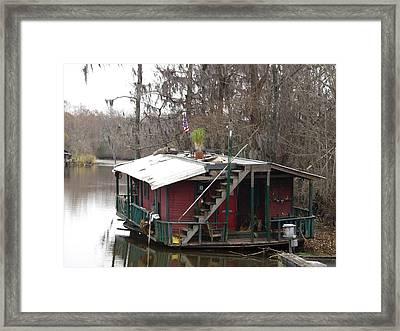 Cajun Houseboat Framed Print