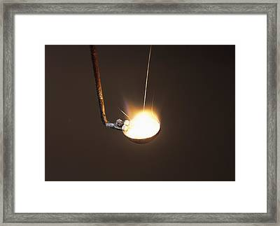 Calcium Flame Test Framed Print by Andrew Lambert Photography