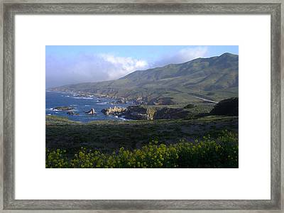 California Coast Framed Print by Cyndi Combs