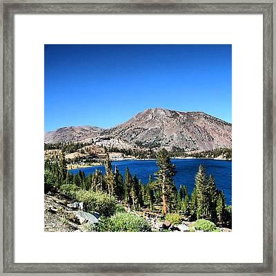 #california Framed Print
