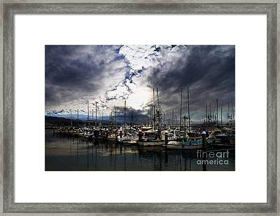 Calm Before The Storm Framed Print by Wingsdomain Art and Photography