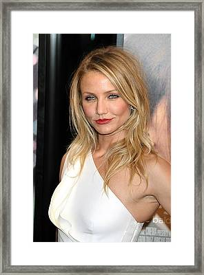 Cameron Diaz At Arrivals For My Sisters Framed Print