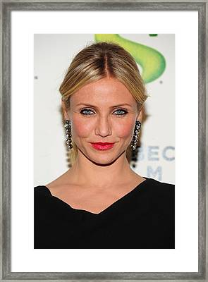 Cameron Diaz Wearing Lanvin Earrings Framed Print by Everett