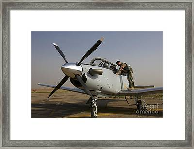 Camp Speicher, Iraq - U.s. Air Force Framed Print by Terry Moore