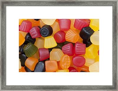 Candy Background Framed Print