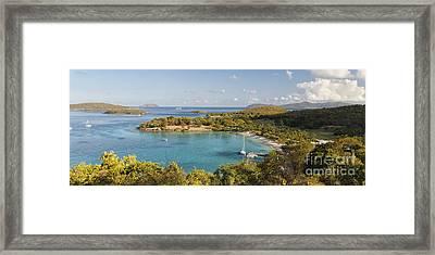 Caneel Bay Panorama Framed Print