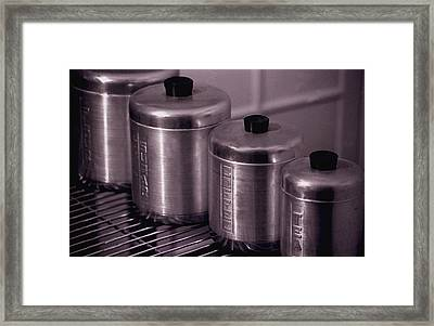 Canisters Framed Print by Kevin Duke