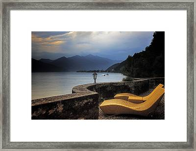 Canvas Chairs Framed Print