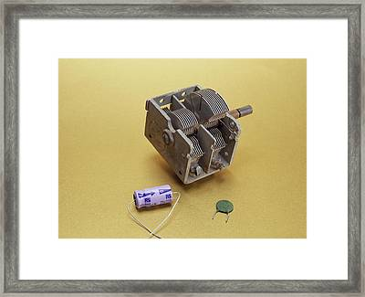 Capacitors Framed Print by Andrew Lambert Photography