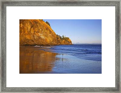 Cape Disappointment Lighthouse Ilwaco Framed Print